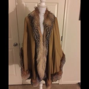 Chestnut Cashmere Russian fox shawl